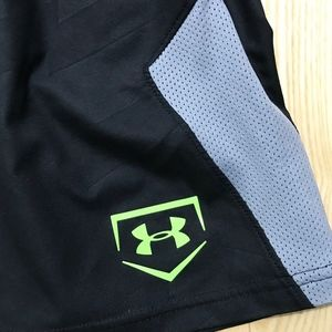 Under Armour Bottoms - Under Armour Boys Black Athletic Shorts sz XS